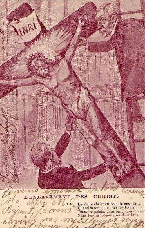 Enlevement des christs